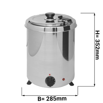 Suppenwärmer - 5,7 Liter - Edelstahl