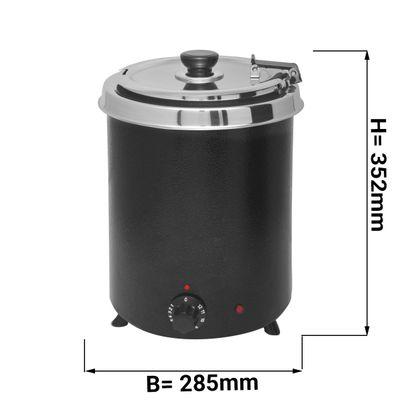 Suppenwärmer - 5,7 Liter - Schwarz