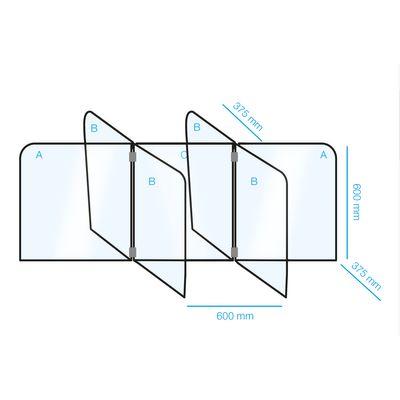 Tisch- Kunststofftrenner / Hygieneschutz - Set für 6 Arbeitsplätze