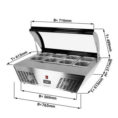 Tischkühlvitrine / Aufsatzvitrine - 67 Liter - 0,76 x 0,61 m