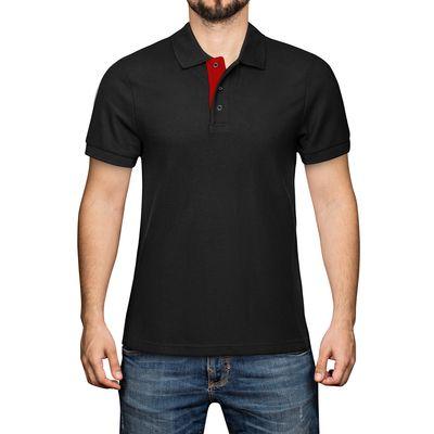(5 Stück) Poloshirt - Schwarz - Größe: XL