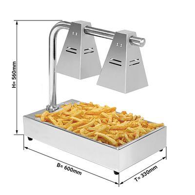 Speisenwärmer PREMIUM GN1/1*65mm - mit 2 Wärmelampen
