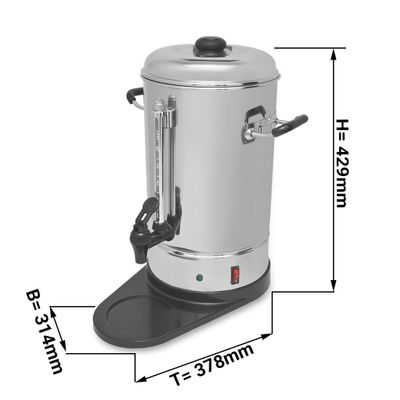 coffee percolator 6 litres