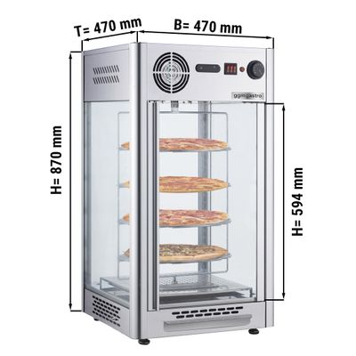 Warming cabinet - 108 liters - stainless steel