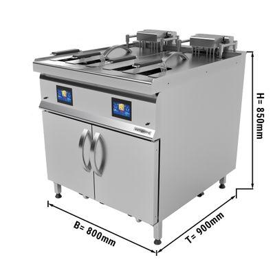 Automatic electro fryer - double - 25 + 25 litres