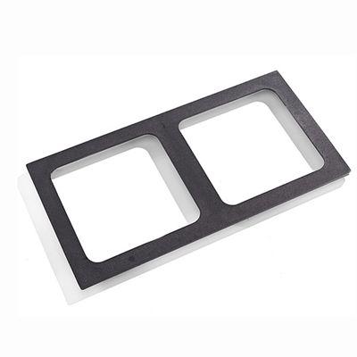 Grille fonte pour 2 plaques de cuissons carrées (220x220mm)
