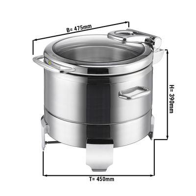Edelstahl Chafing Dish - 14,3 Liter - Rund