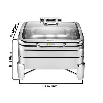 Edelstahl Chafing Dish - 5,5 Liter - GN 2/3