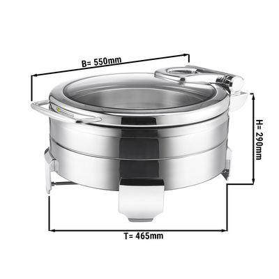 Edelstahl Chafing Dish - 5,7 Liter - Rund