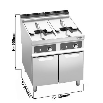 Electric deep fryer - 22 + 22 litres (44 kW) - Electronic controls