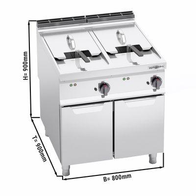 Electric deep fat fryer 22 + 22 litres (44 kW)