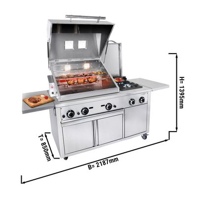 Grill station - Professional BBQ kitchen