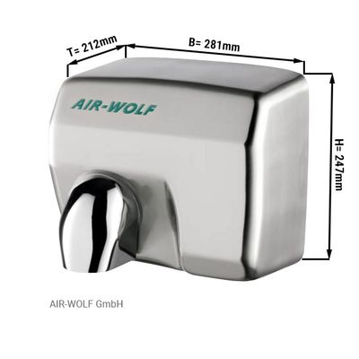 Stainless steel hand dryer - AIR-WOLF