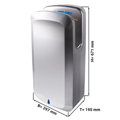 Hand dryer with filter - stainless steel