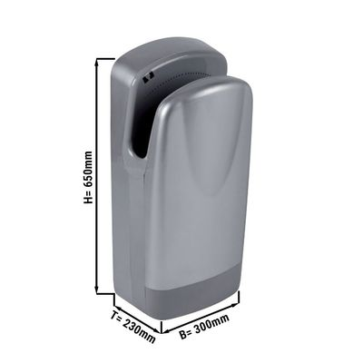 Hand dryer with filter - grey