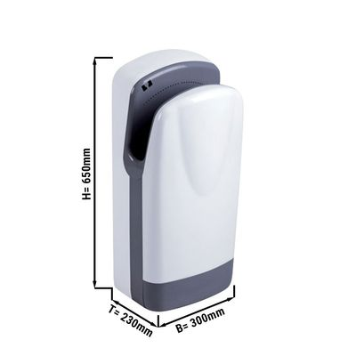 Hand dryer with filter - white