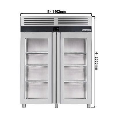 Kühlschrank - 1,4 x 0,81 m - mit 2 Glastüren