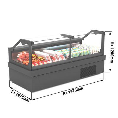 Kühltheke - 1,97 x 1,05 m - LED