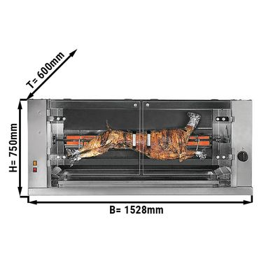 Gas lamb / suckling pig grill with 1 skewer