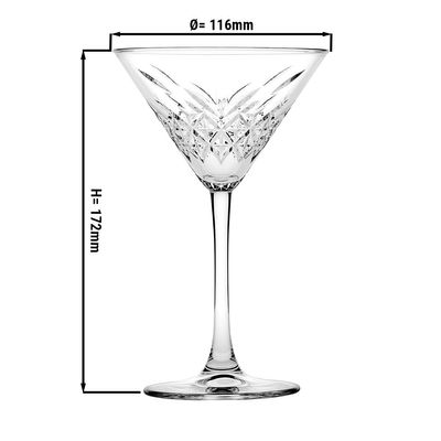 Timeless martini glass - 0,.23 litres - set of 12