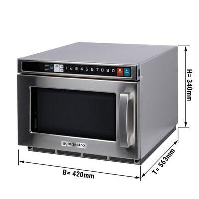 Microwave - digital - 17 litres - 2100 watts