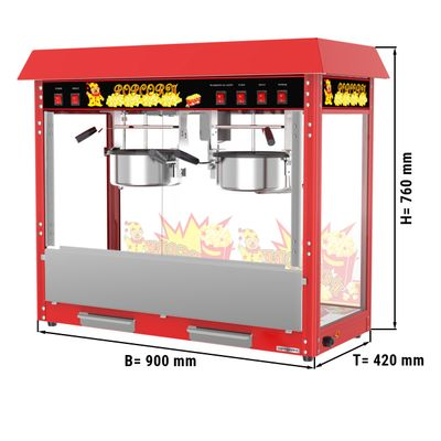 Popcornmaschine - 5 kg/h - mit 2 Kessel