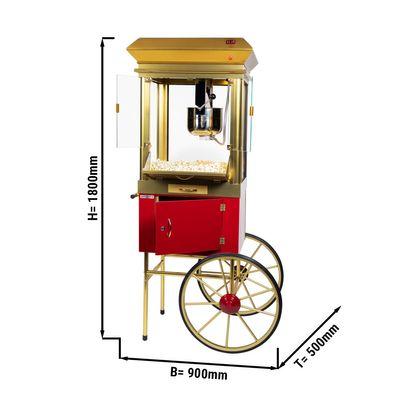Popcorn trolley - capacity: 250 gr - incl. maize bucket & lighting