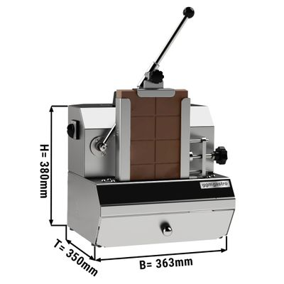 Electric chocolate grater - for 2.5 kg block chocolate