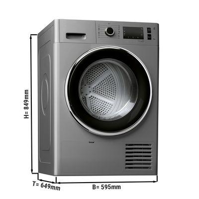 Heat pump dryer - 8 kg - silver