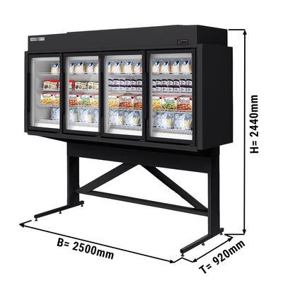Wall-mounted freezer shelf on base frame - 2.5 m