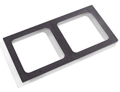 Grille fonte pour 2 plaques de cuisson carrées (300x300mm)