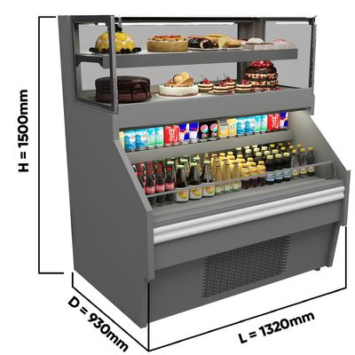 Sales counter / refrigerated counter - 1.32 x 0.93 m