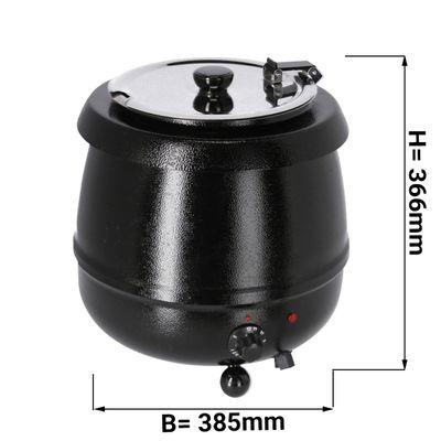 Soep kettle - 9 liters - black